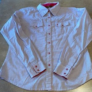 Girls Aura snap shirt size medium